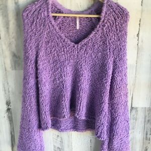 NEW Free People Sand Dune Bell Sleeve Sweater